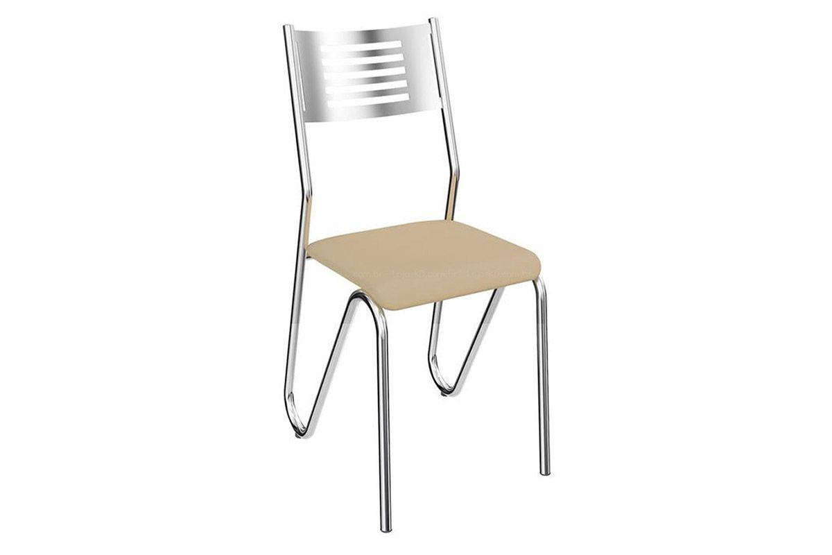 Cadeira Kappesberg Nápoles 4C045Cor Cromada  -  Assento Nude 16