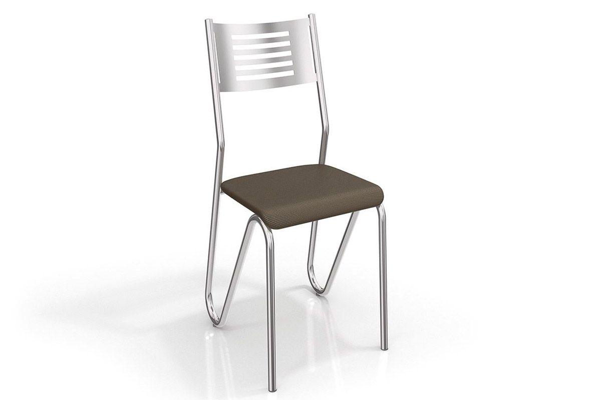 Cadeira Kappesberg Nápoles 4C045Cor Cromado  -  Assento Marrom 21