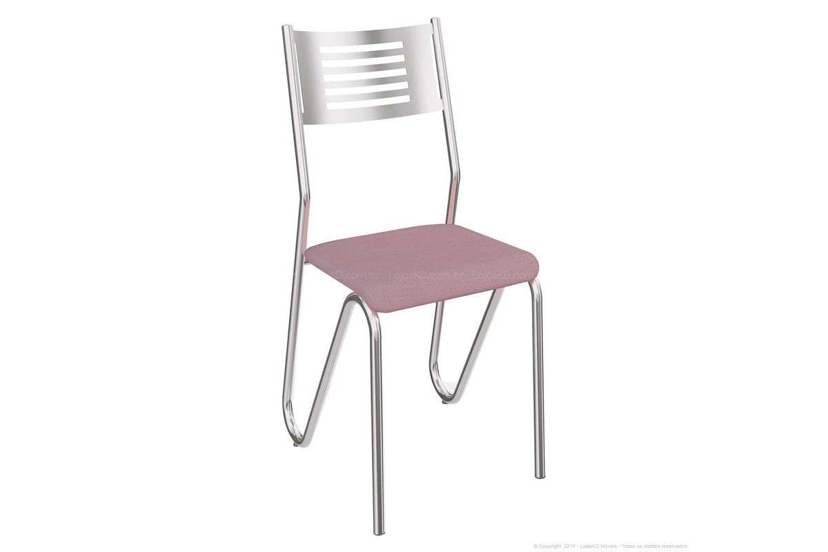 Cadeira Kappesberg Nápoles 4C045Cor Cromado  -  Assento Salmão 23