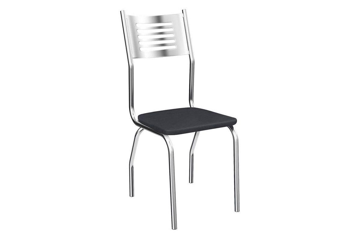 Cadeira Kappesberg Munique 4C047Cor Cromada  -  Assento Preto 110