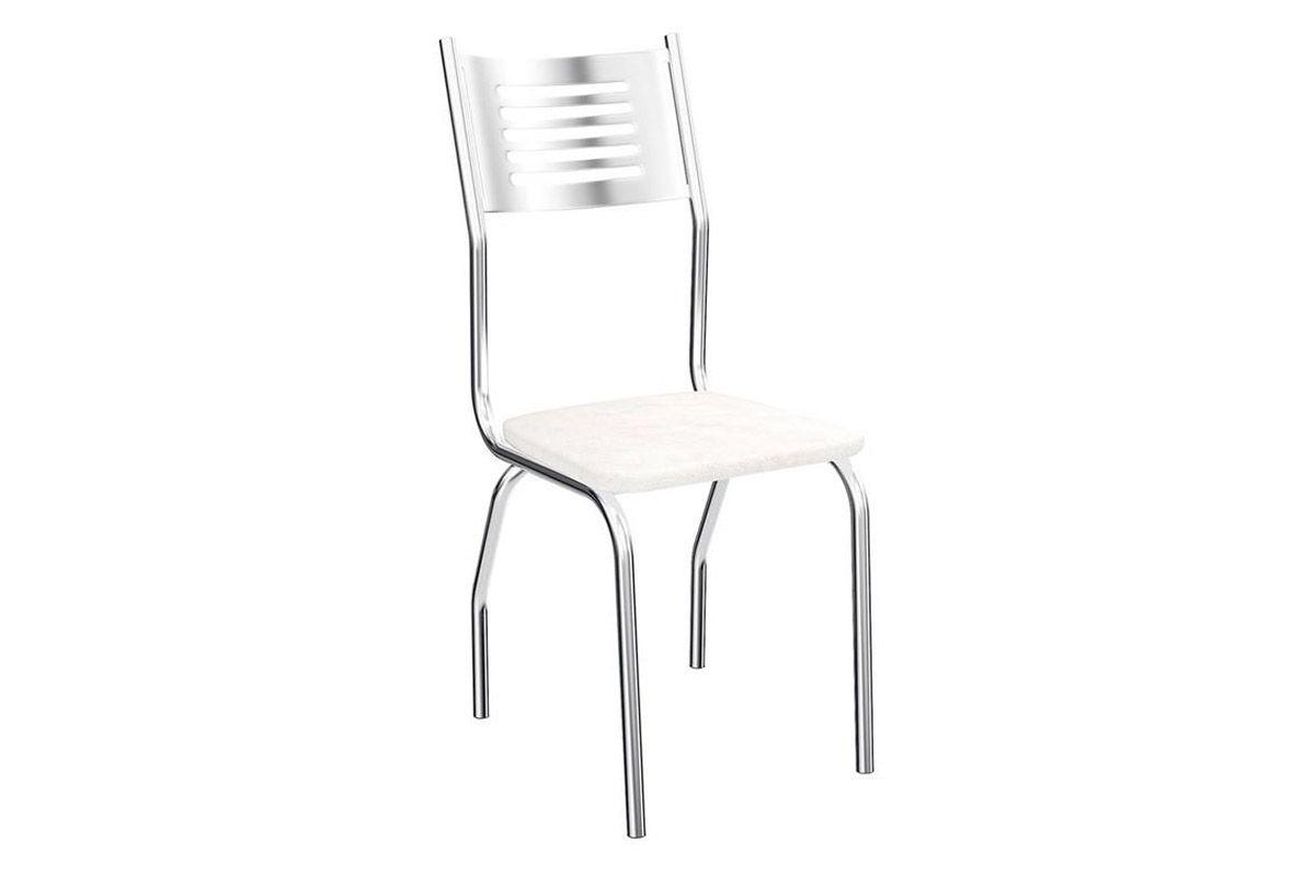 Cadeira Kappesberg Munique 4C047Cor Cromada  -  Assento Branco 106