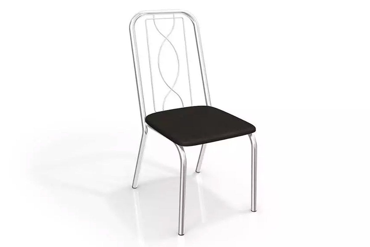 Cadeira Kappesberg Viena 4C072Cor Cromada  -  Assento Preto 110