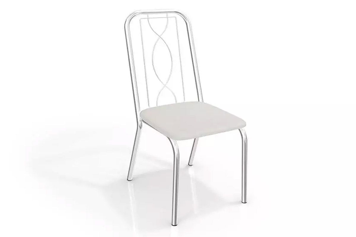 Cadeira Kappesberg Viena 4C072Cor Cromada  -  Assento Branco 106