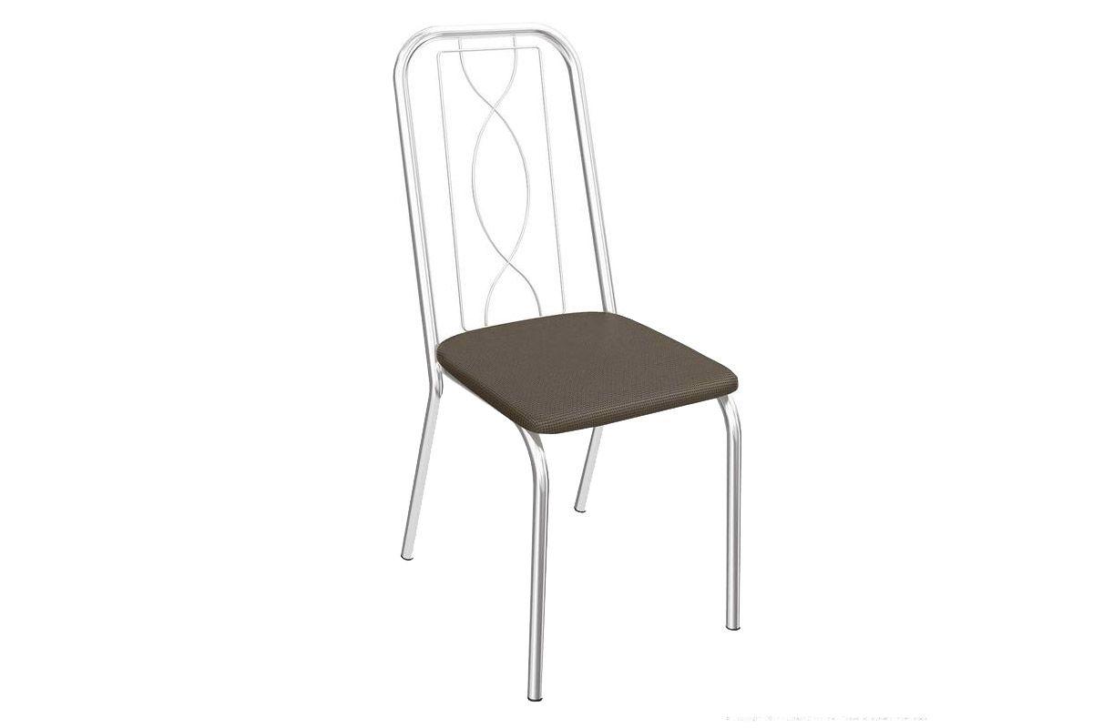 Cadeira Kappesberg Viena 4C072Cor Cromado  -  Assento Marrom 21