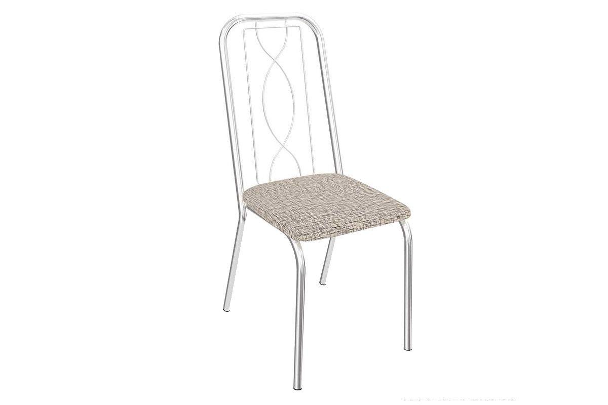 Cadeira Kappesberg Viena 4C072Cor Cromado  -  Assento Linho Marrom 22