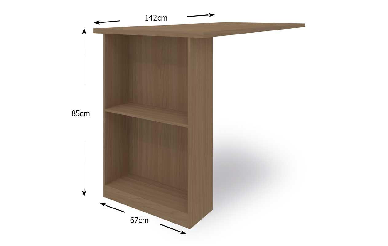 Bancada de Cozinha Kappesberg E781 p/ (Kit Cozinha Compacta E780) #4F3D2B 1263 800