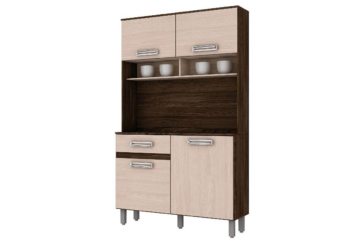 Kit de Cozinha Henn Briz B109 c/ 4 Ptas e 1 Gav.Cor Moka c/ Fendi