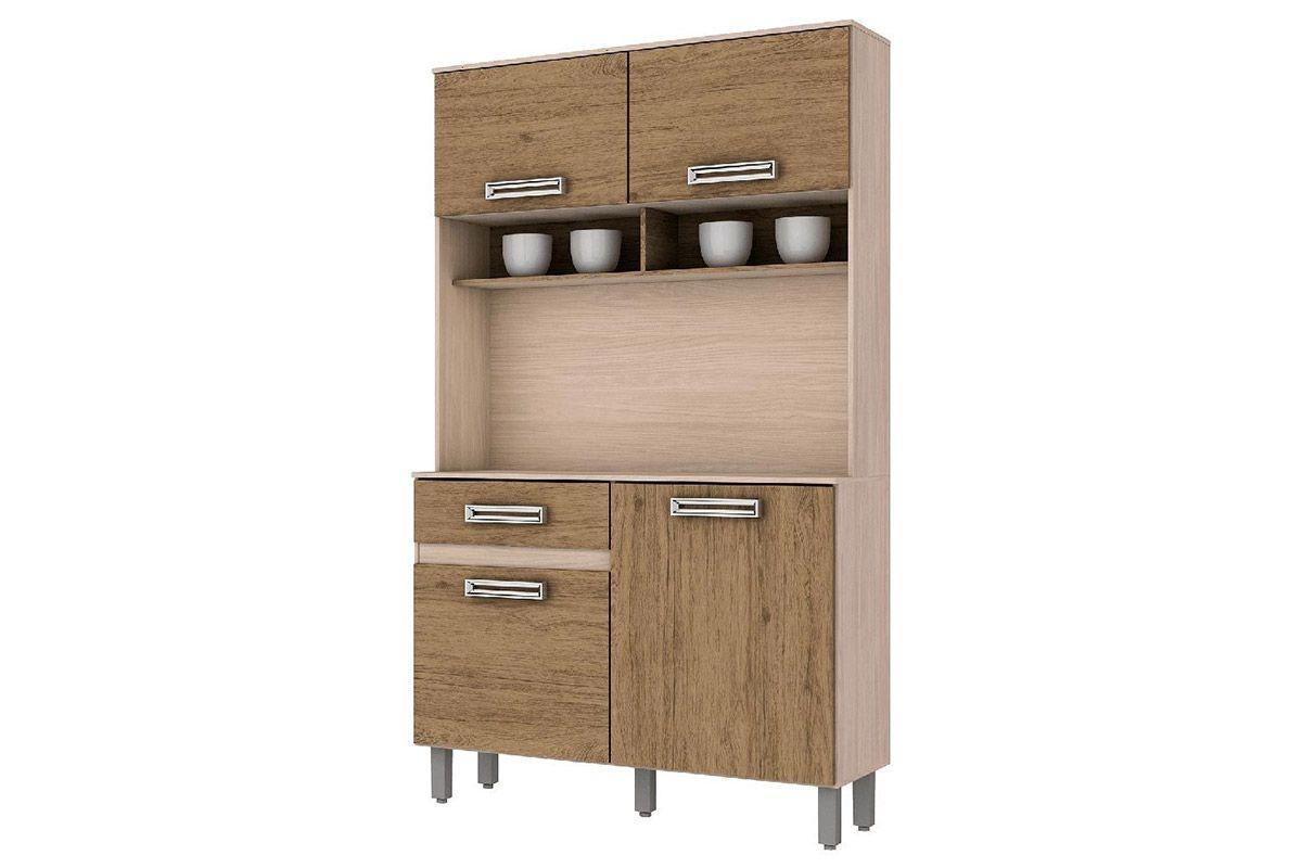 Kit de Cozinha Henn Briz B109 c/ 4 Ptas e 1 Gav.Cor Fendi c/ Rústico
