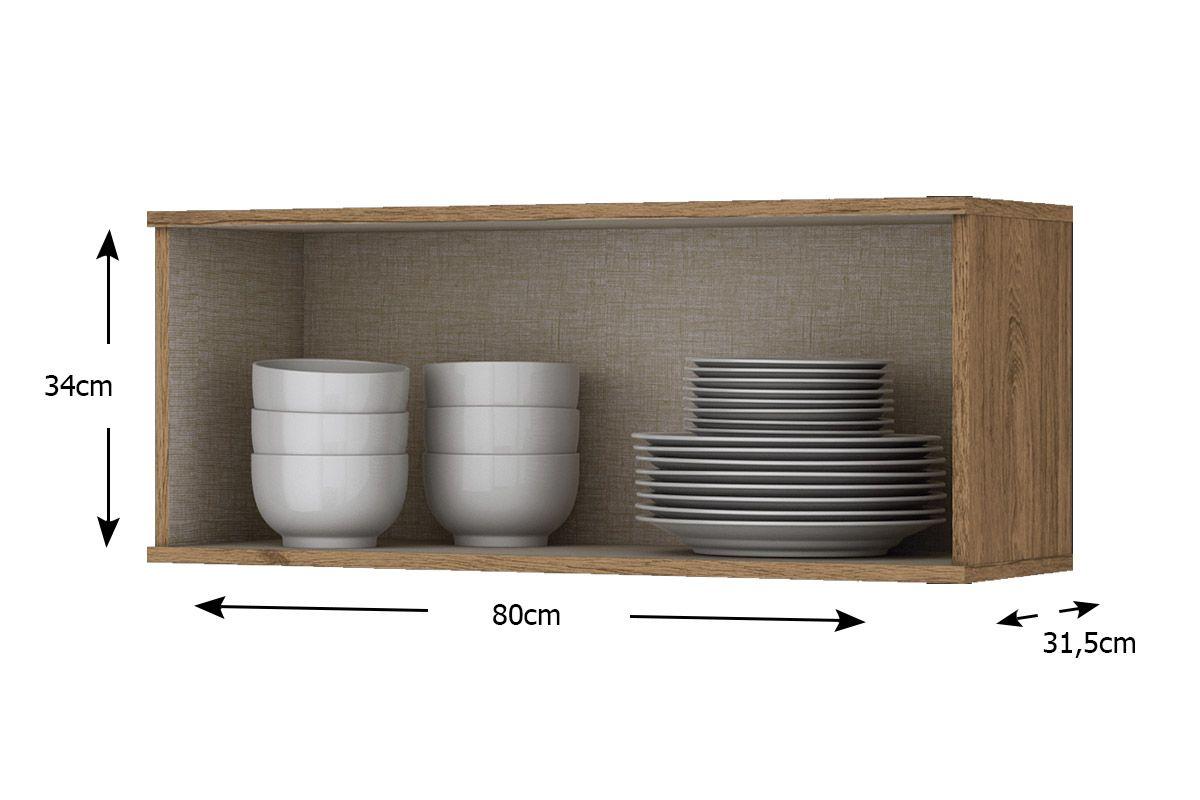 Armário de Cozinha Henn Aéreo Integra c/ 1 Porta Basculante 80cm