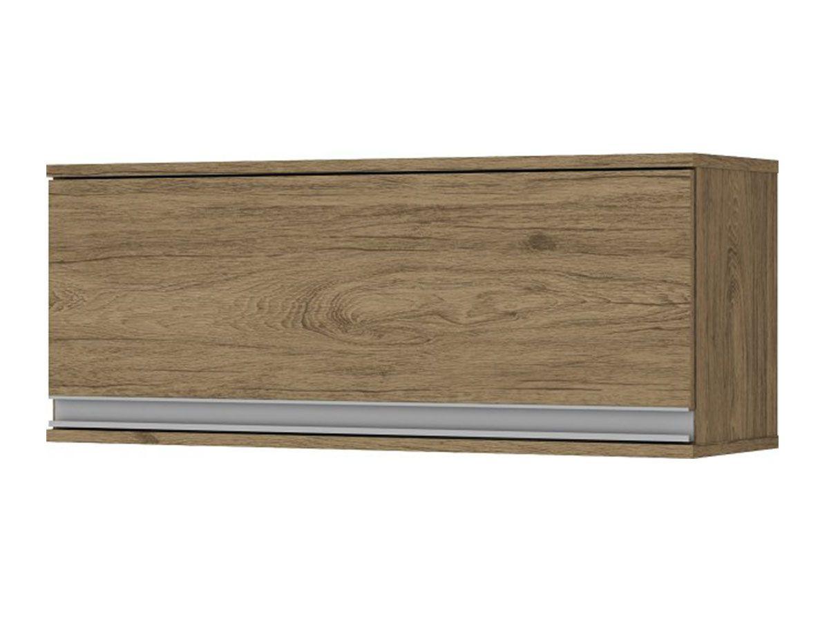 Armário de Cozinha Henn Aéreo Integra c/ 1 Porta Basculante 80cmCor Rústico