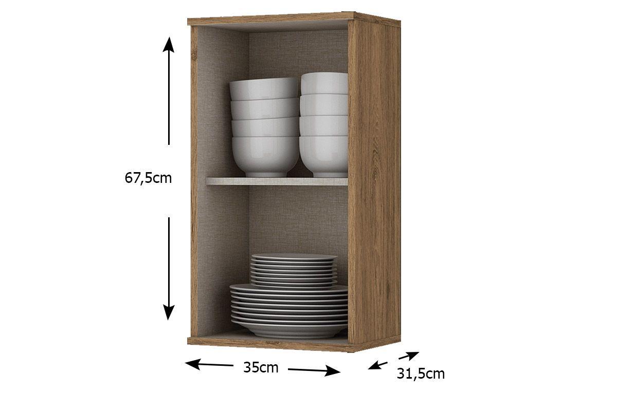 Armário de Cozinha Henn Aéreo Integra c/ 1 Porta 35cm