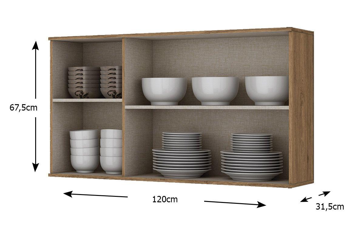 Armário de Cozinha Henn Aéreo Integra c/ 3 Portas 120cm