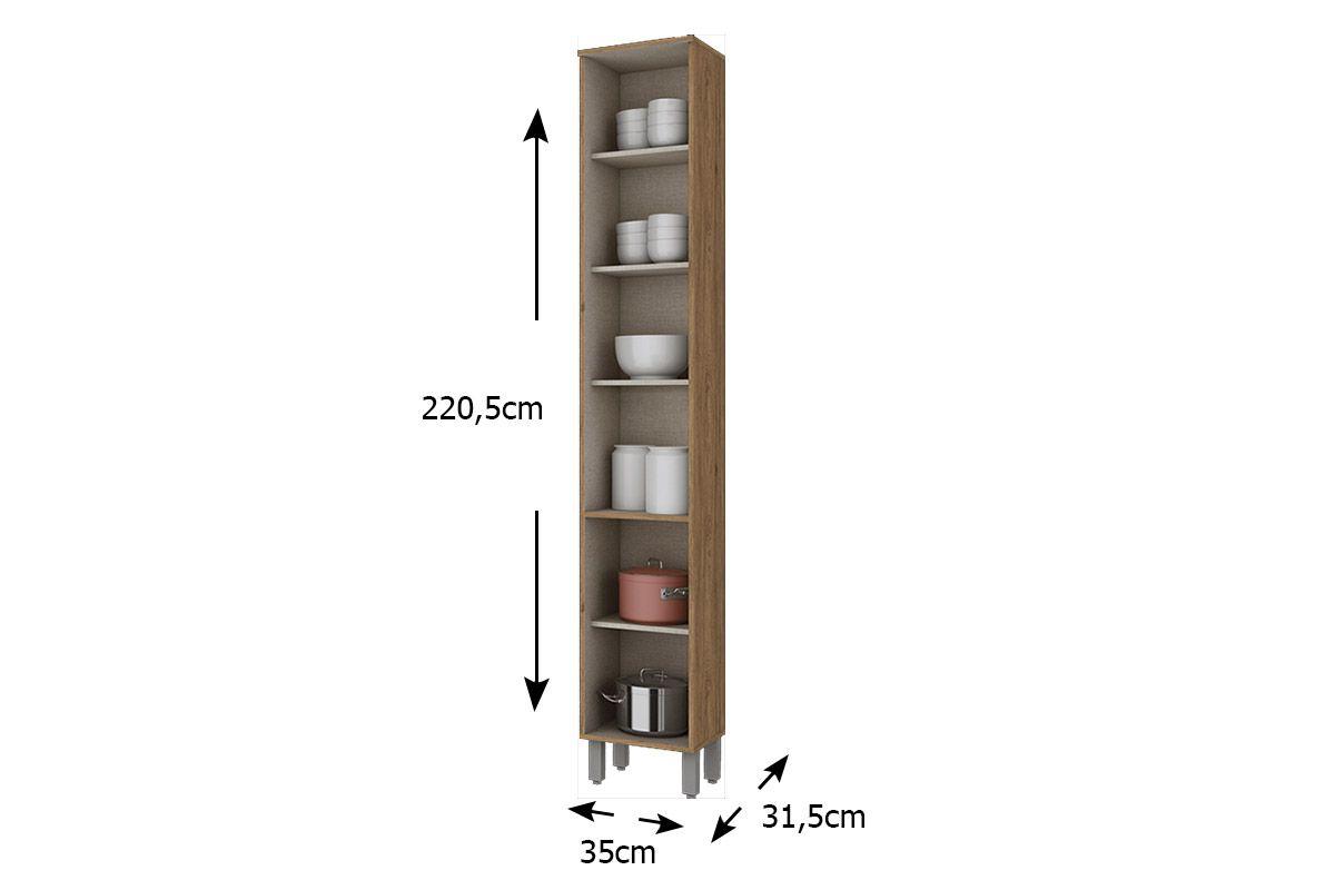 Paneleiro de Cozinha Henn Integra c/ 2 Portas 35cm