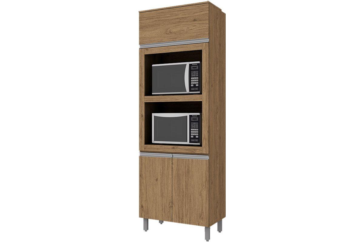 Torre Quente de Cozinha Henn Integra c/ 2 Fornos 71,5cmCor Rústico