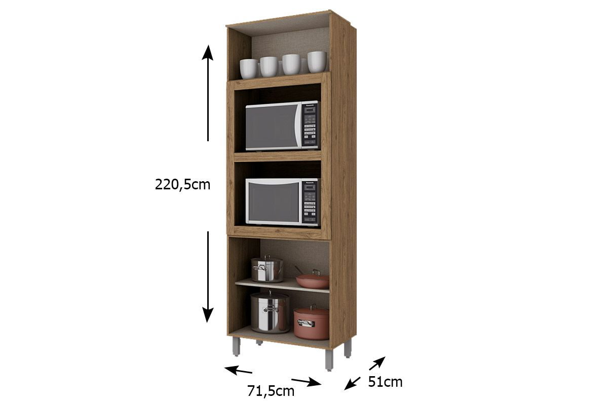 Torre Quente de Cozinha Henn Integra c/ 2 Fornos 71,5cm