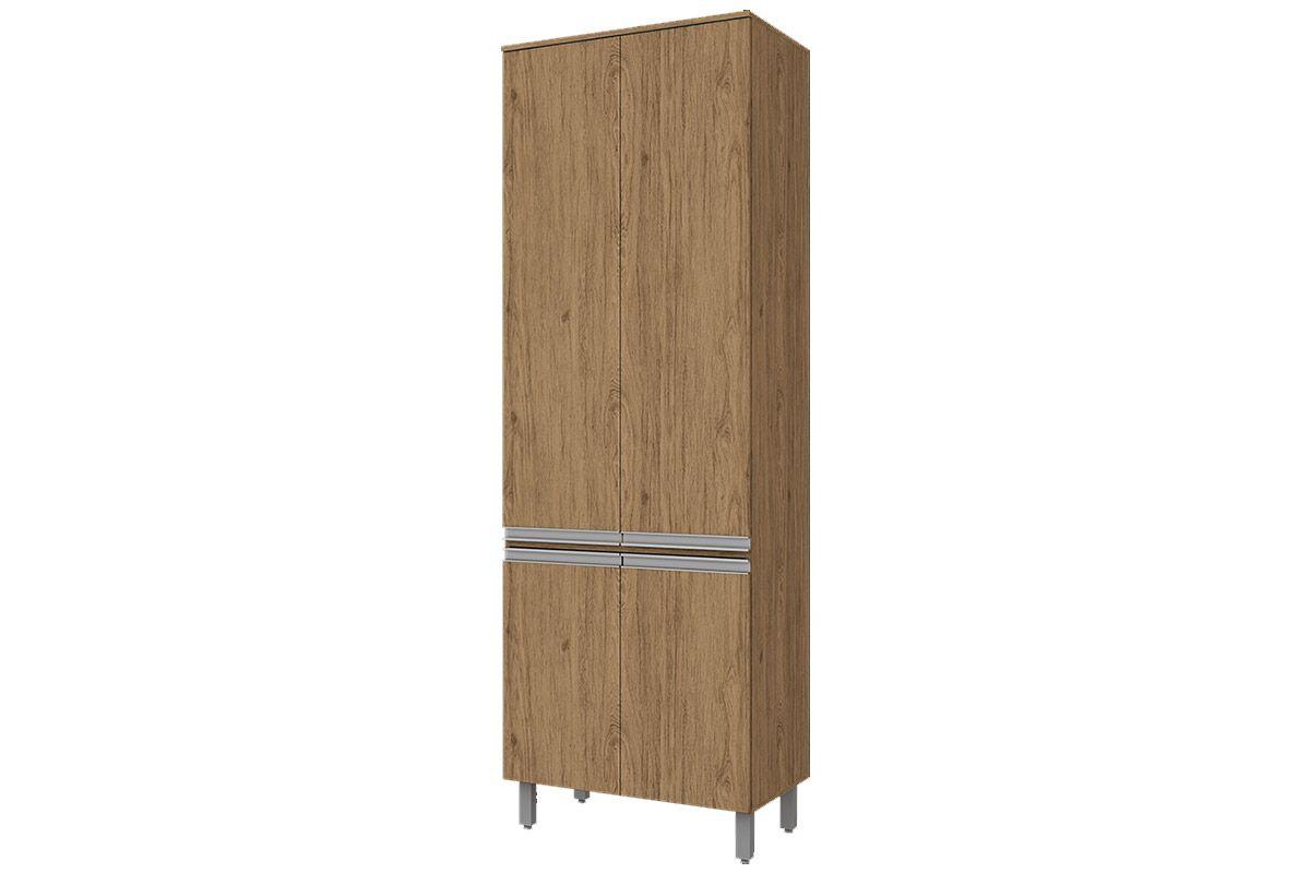Paneleiro de Cozinha Henn Integra c/ 4 Portas 71,5cmCor Rústico