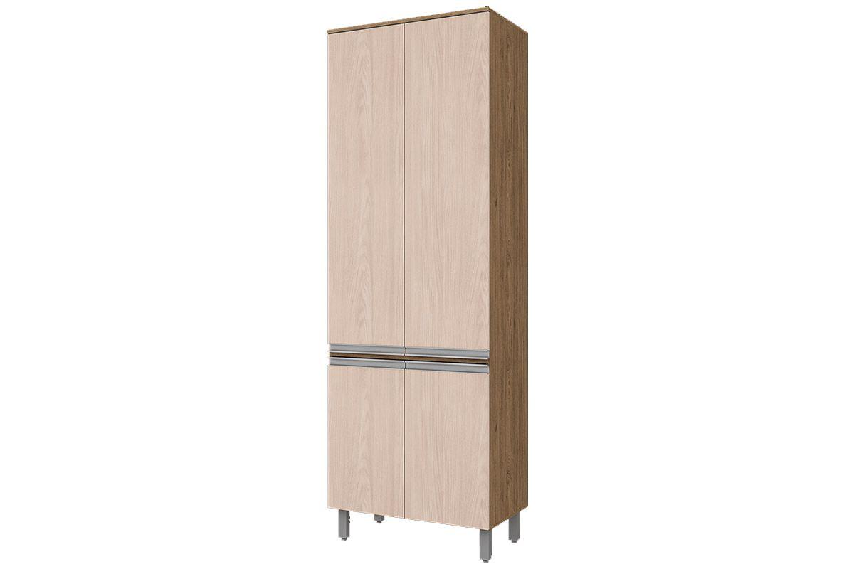 Paneleiro de Cozinha Henn Integra c/ 4 Portas 71,5cmCor Rústico c/ Fendi