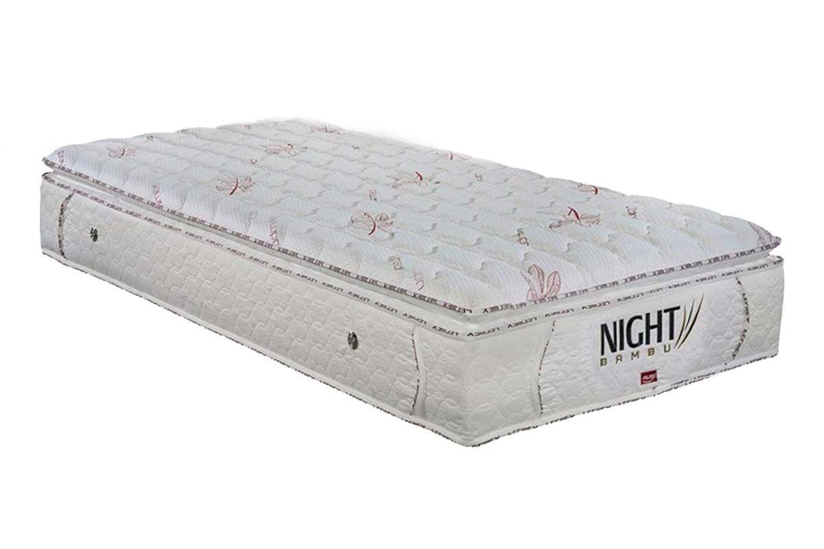 Colchão Pelmex Molas Pocket Night Bambu BrancoColchão Solteiro - 0,88x1,88x0,32 - Sem Cama Box