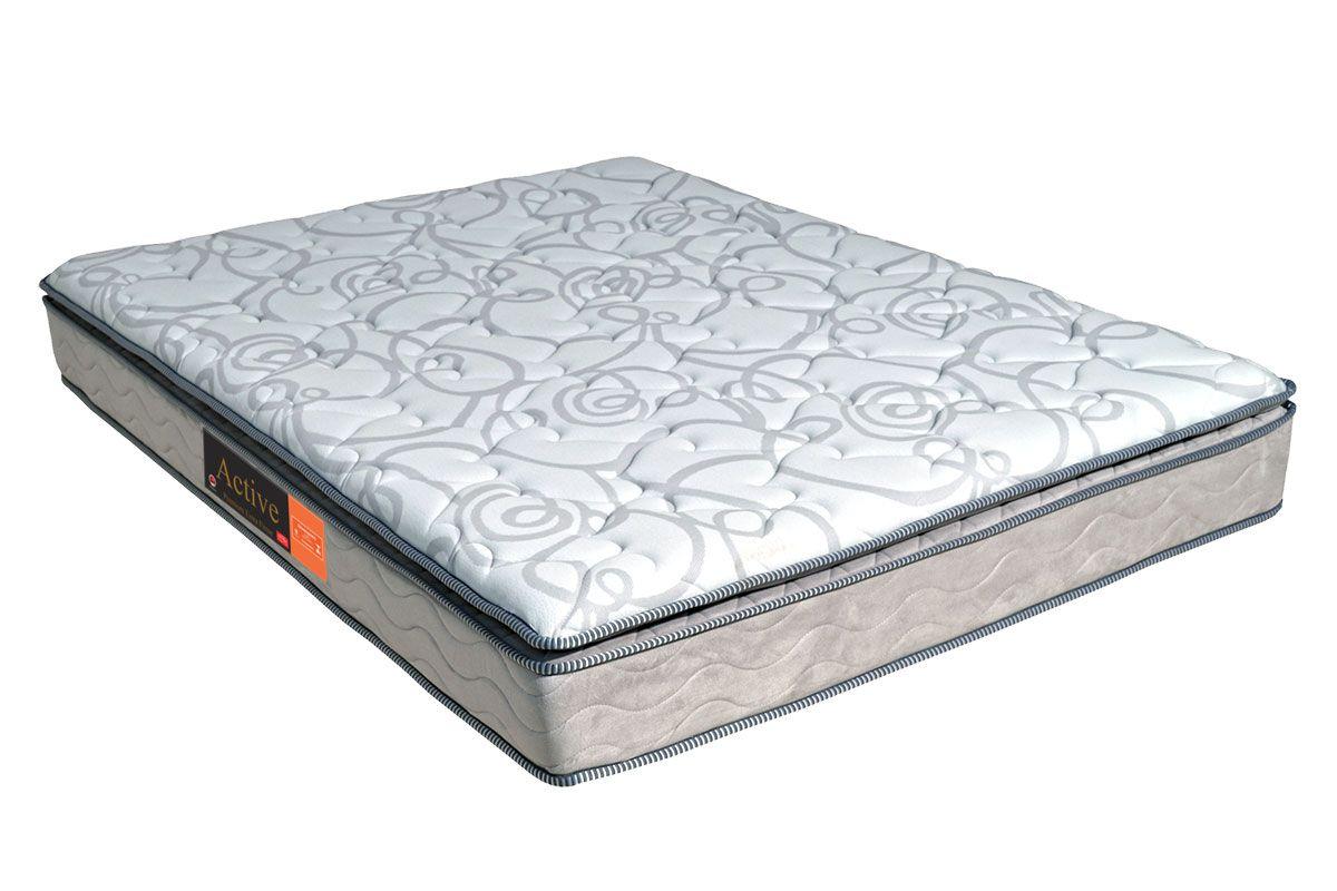 Colchão Pelmex de Espuma D33 Active Premium Extra Firme Pillow Top Selado INMETROColchão Casal - 1,28x1,88x0,24 - Sem Cama Box