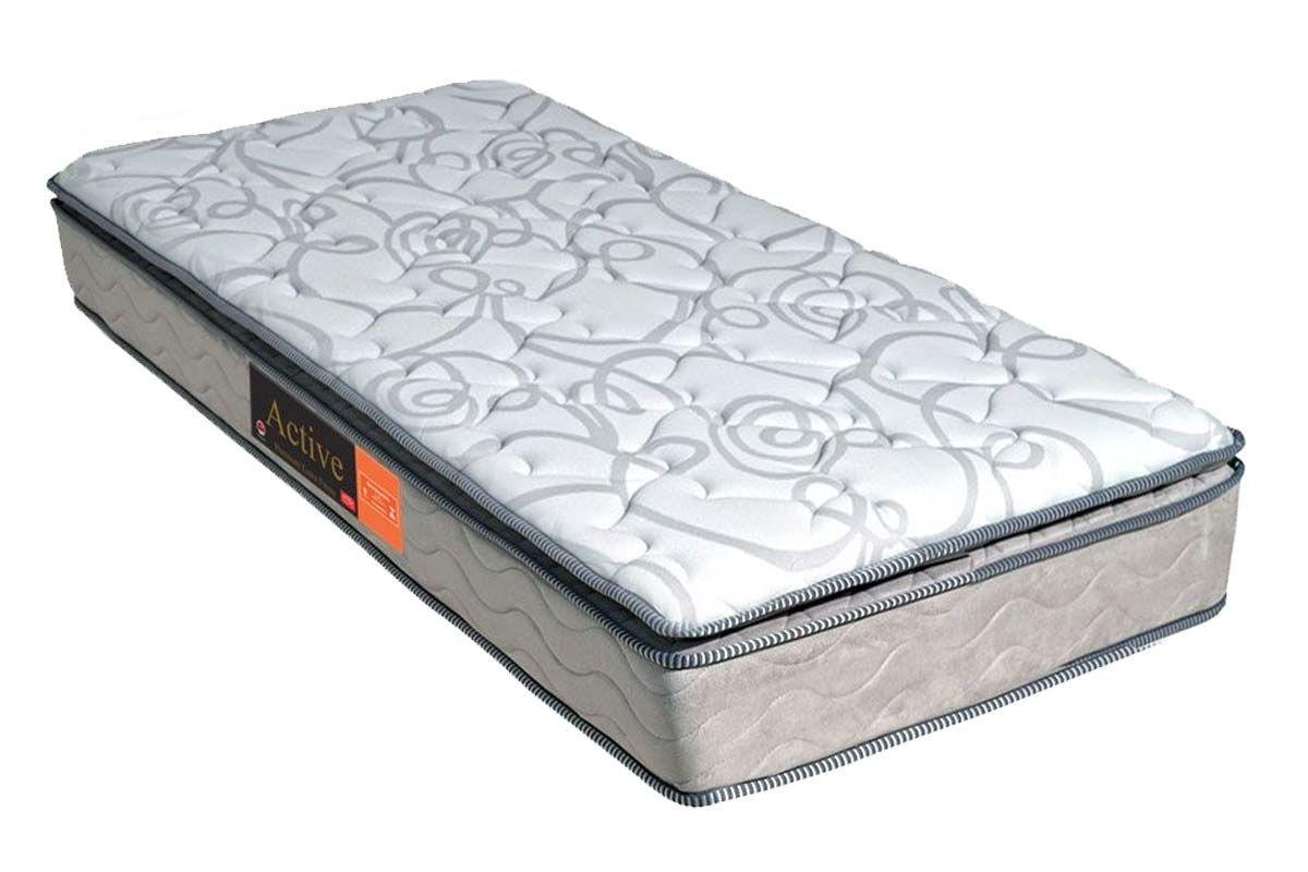 Colchão Pelmex de Espuma D33 Active Premium Extra Firme Pillow Top Selado INMETROColchão Solteiro - 0,78x1,88x0,24 - Sem Cama Box