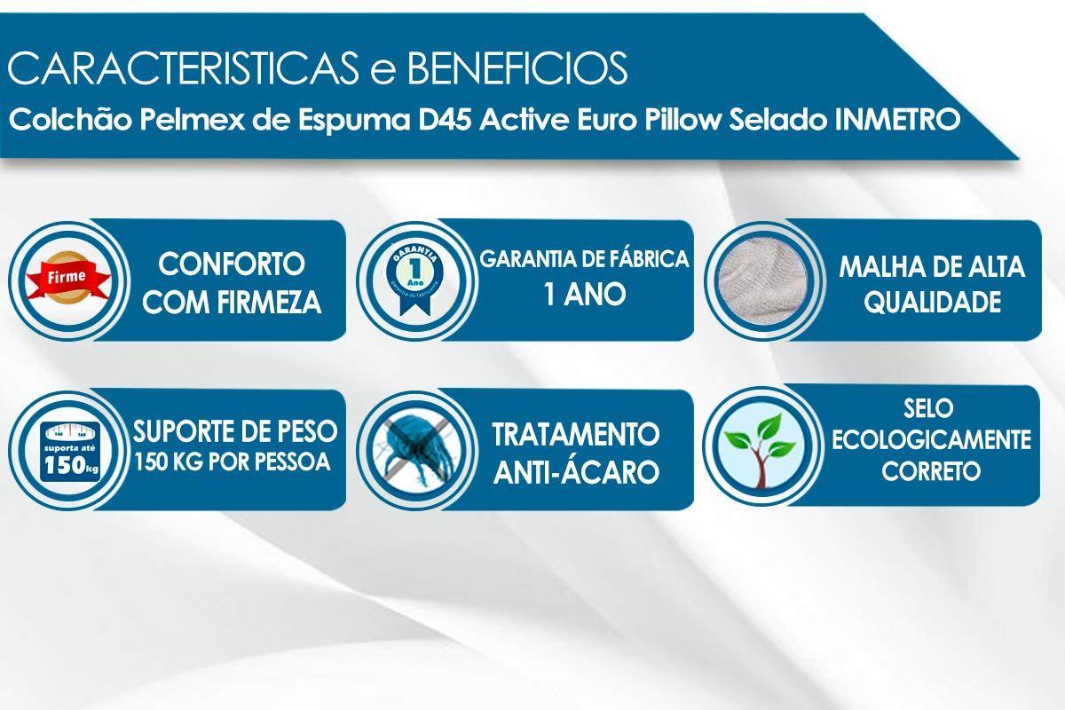 Colchão Pelmex Espuma D45 Active