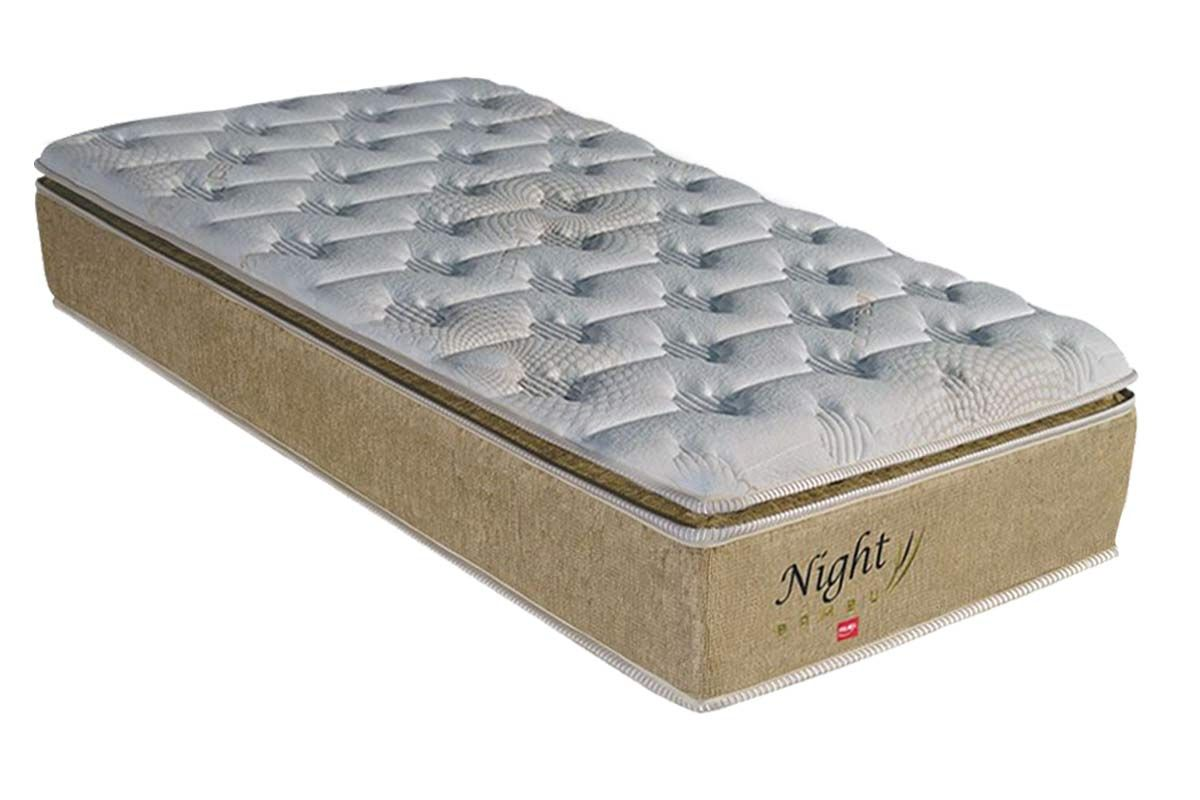 Colchão Pelmex Molas Pocket Night Bambu BegeColchão Solteiro - 0,88x1,88x0,32 - Sem Cama Box