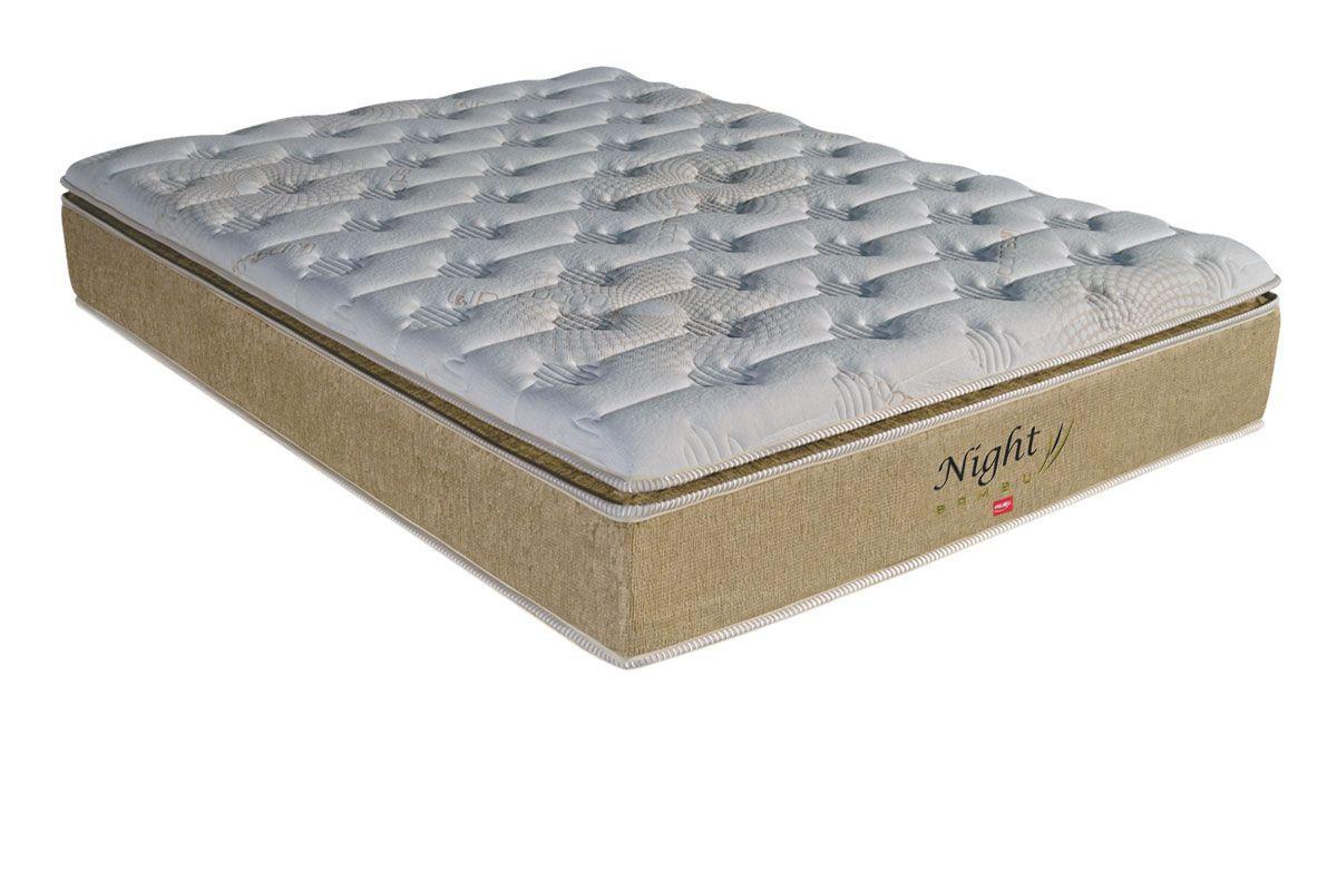 Colchão Pelmex Molas Pocket Night Bambu BegeColchão Queen Size - 1,58x1,98x0,32 - Sem Cama Box