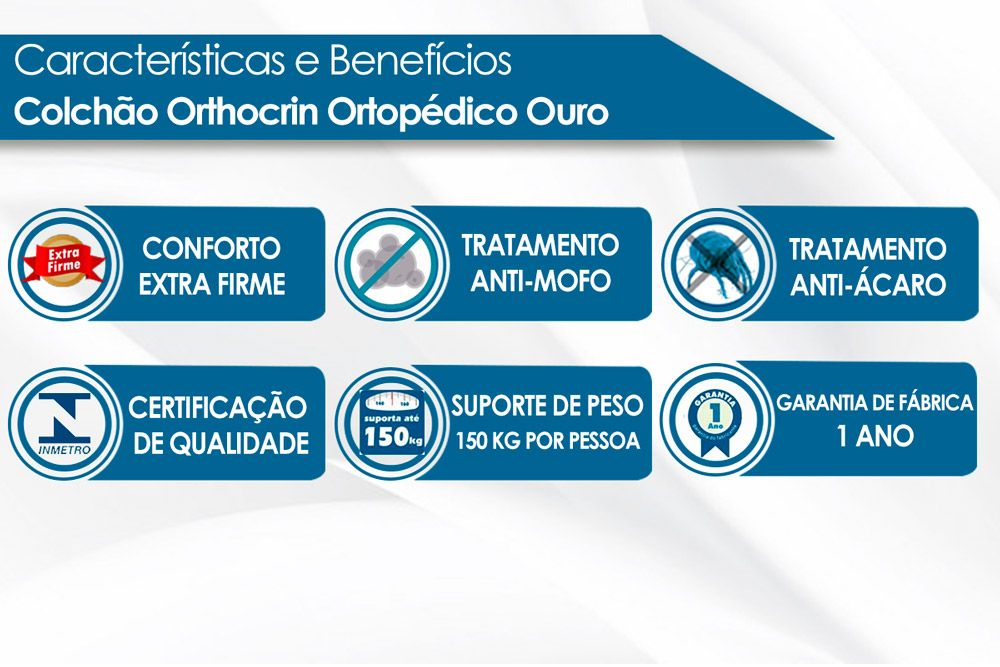Colchão Orthocrin Ortopédico Ouro