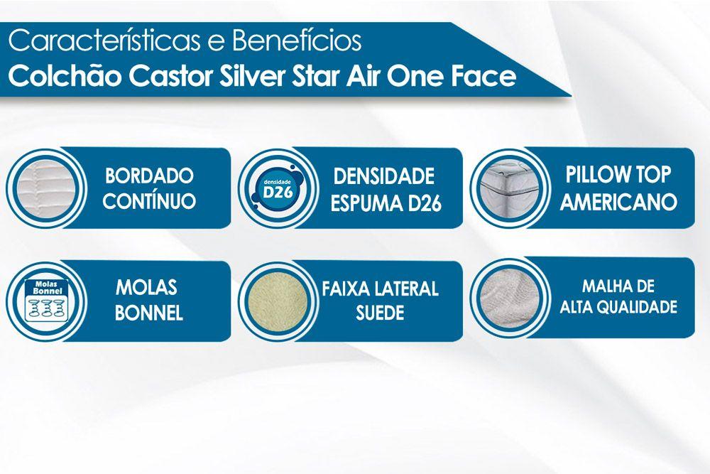 Colchão Castor Molas Bonnel Silver Star Air