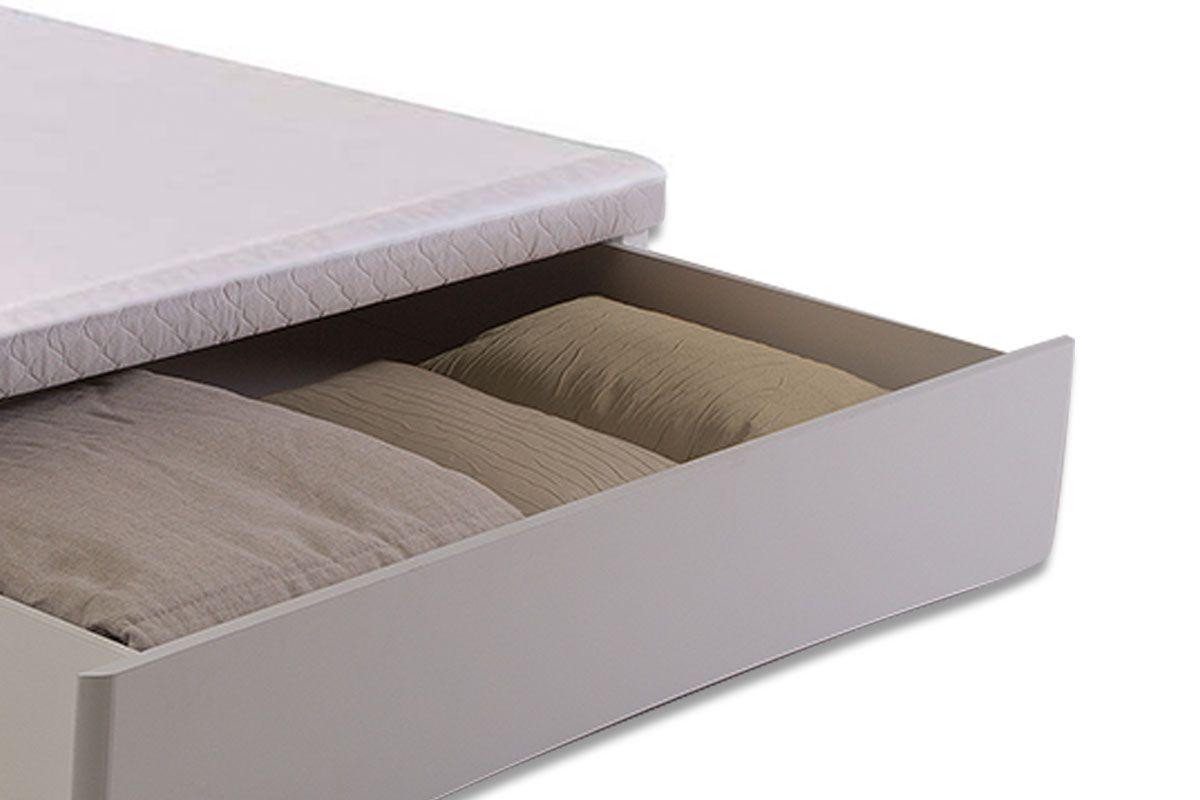 Cama Box Base Herval MH 1819 c/ Gaveta Frontal Tecido Branco