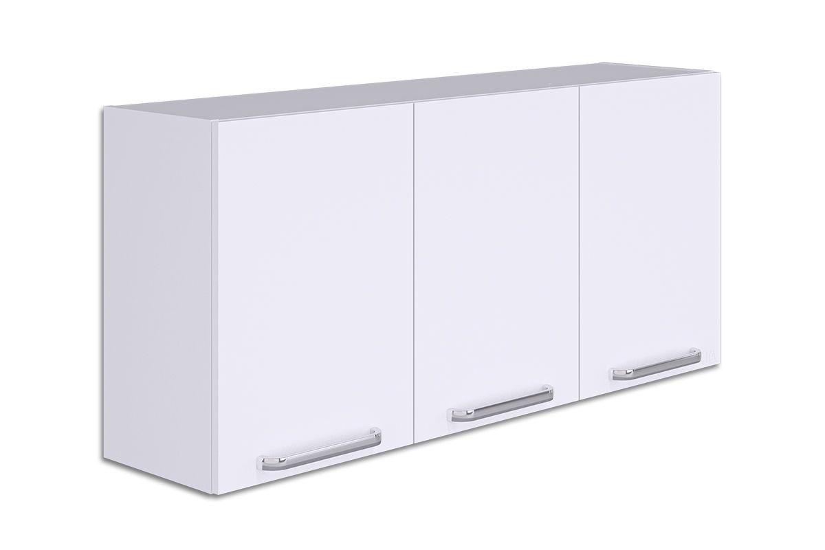 Armário de Cozinha Itatiaia Cacau IP3-120 3 PortasCor Branco Lacca