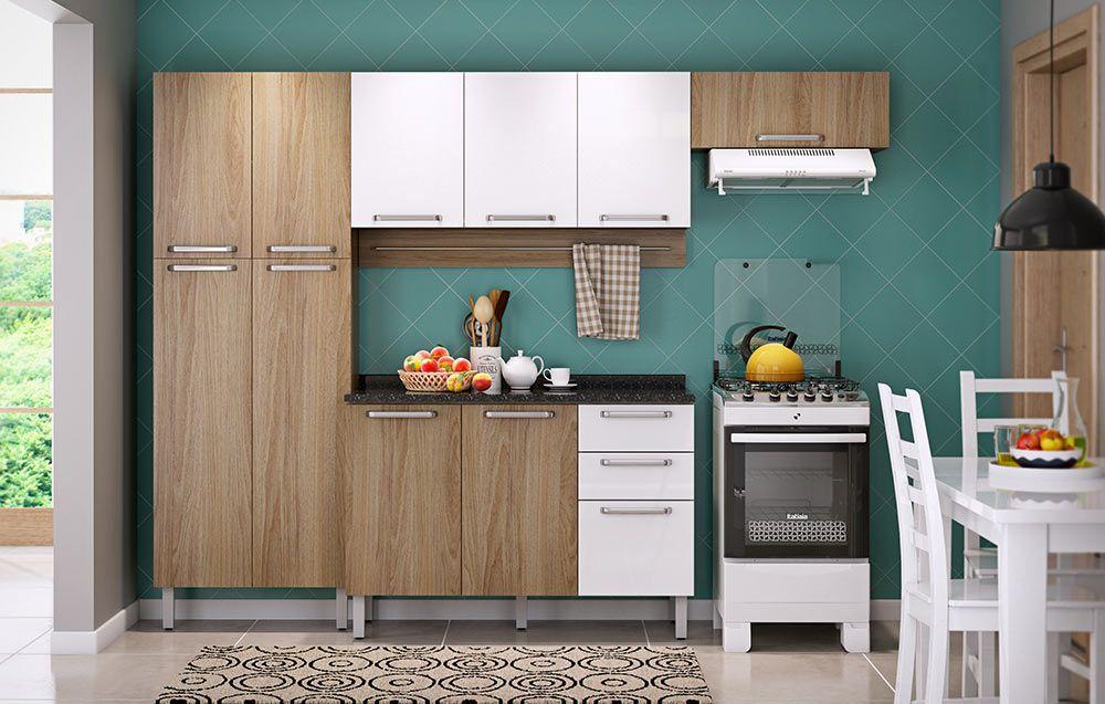 Armário de Cozinha Itatiaia Cacau IP3-120 3 Portas