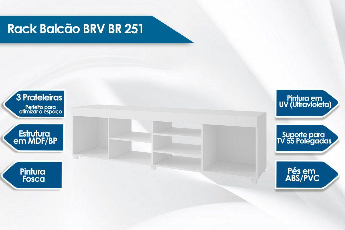 Rack Balcão BRV BR 251 3 Pratelerias