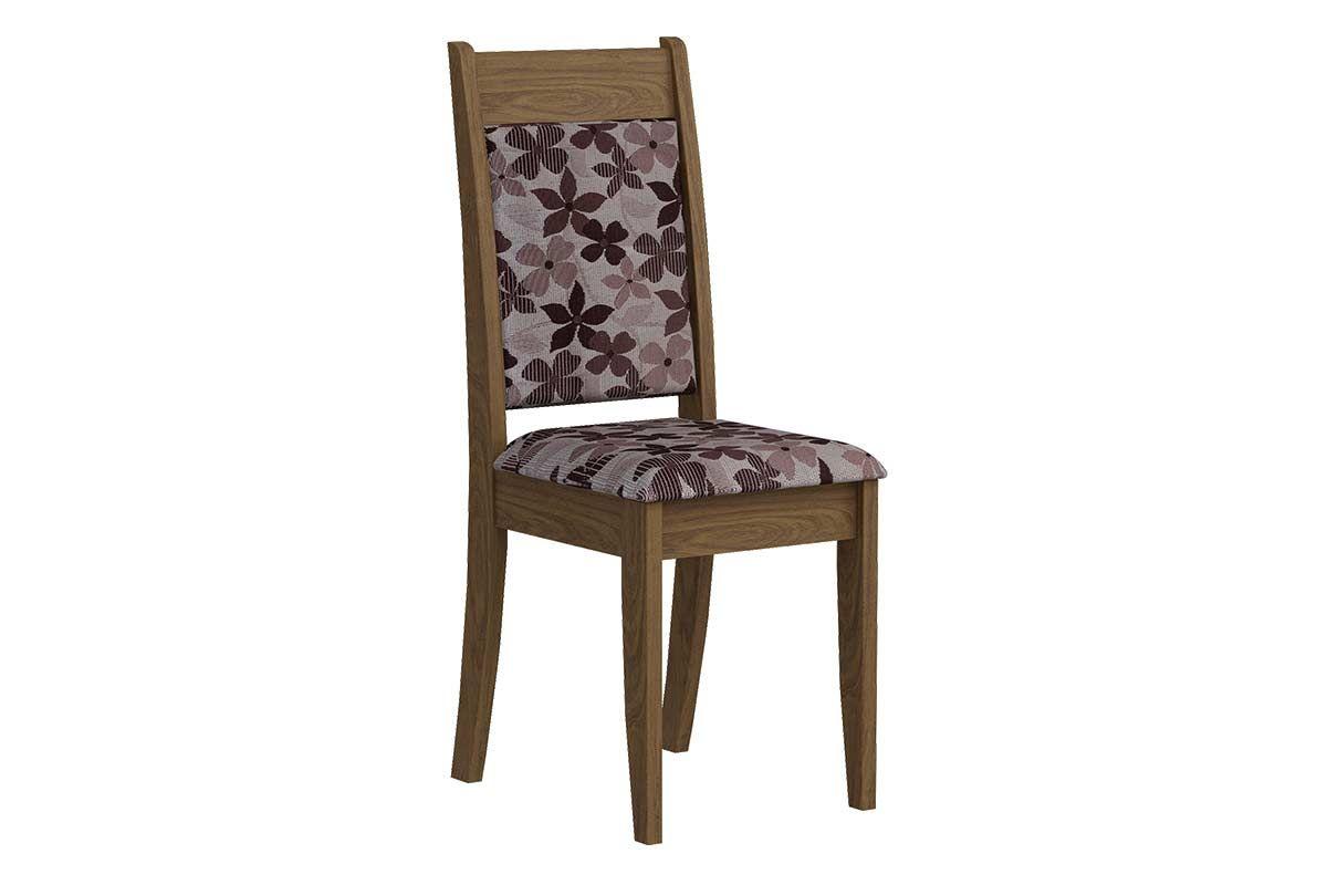 Cadeira Cimol LarissaCor Savana  -  Assento/Encosto Floral Bordô