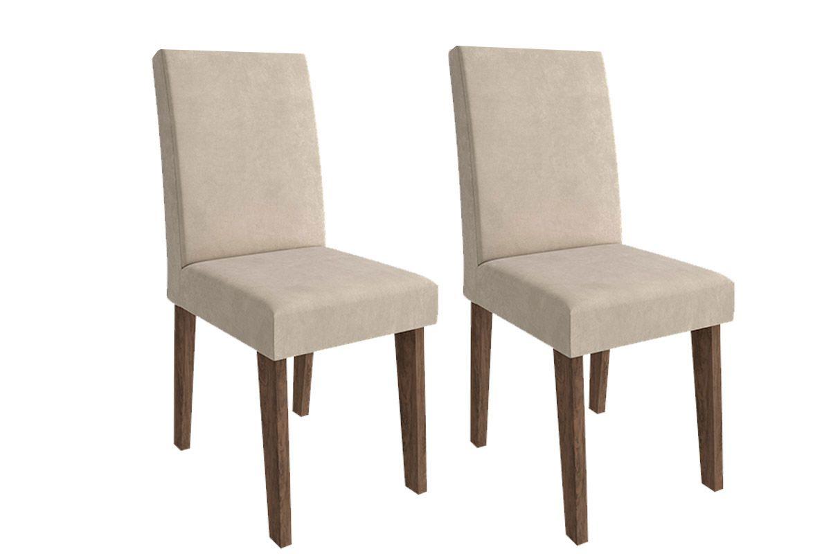 Cadeira Cimol MilenaCor Marrocos  -  Assento/Encosto Sued Bege