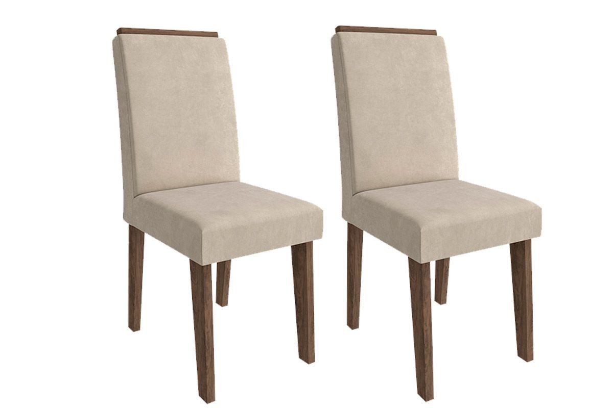 Cadeira Cimol BeatrizCor Marrocos  -  Assento/Encosto Sued Bege