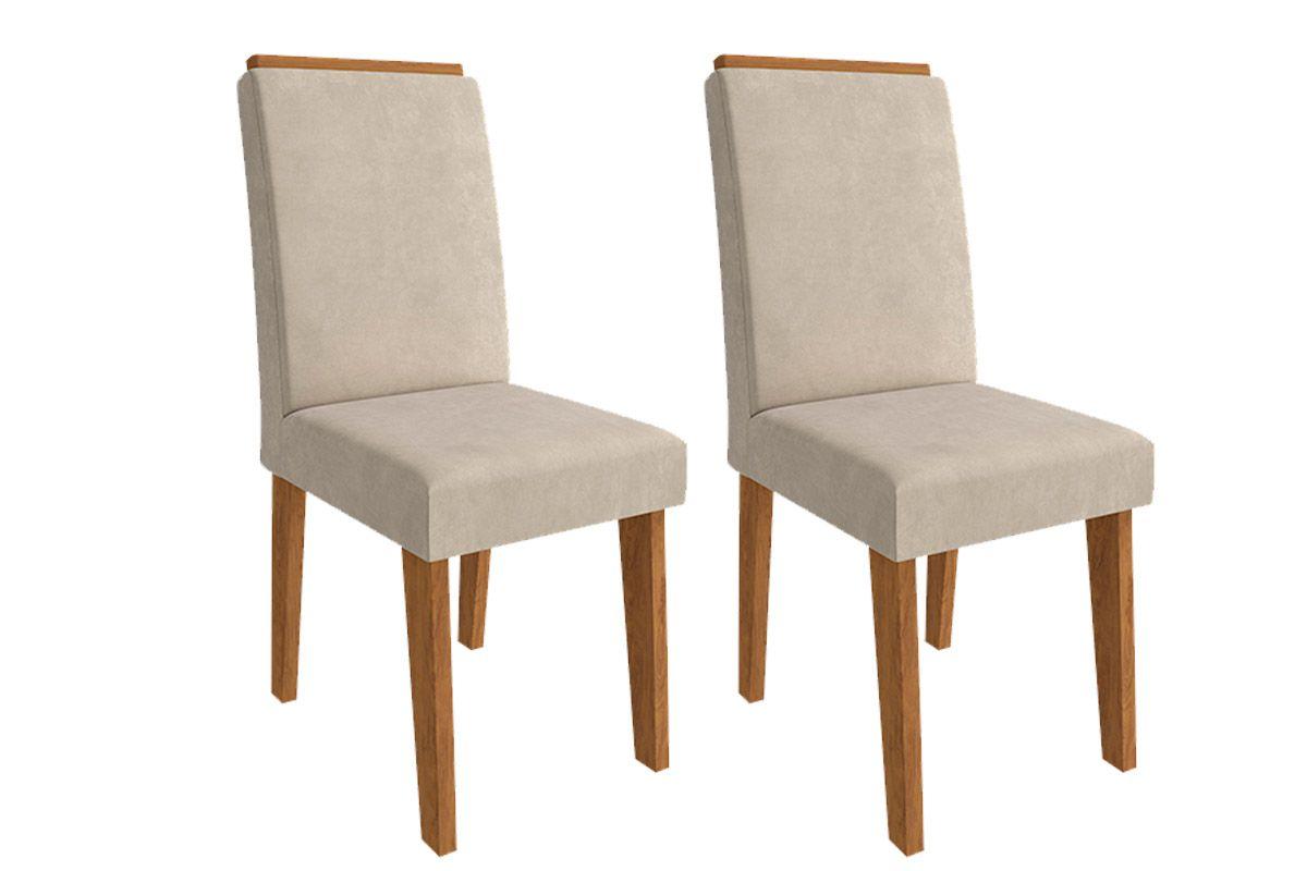 Cadeira Cimol BeatrizCor Savana  -  Assento/Encosto Sued Bege