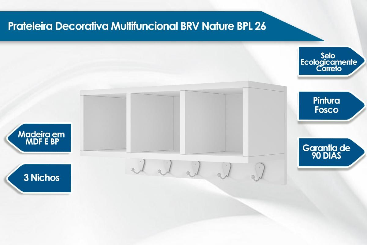 Prateleira Decorativa BRV Nature BPL 26