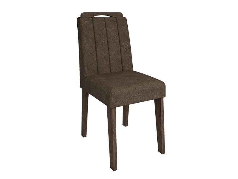 Cadeira Cimol ElisaCor Marrocos- Assento/Encosto Cacau