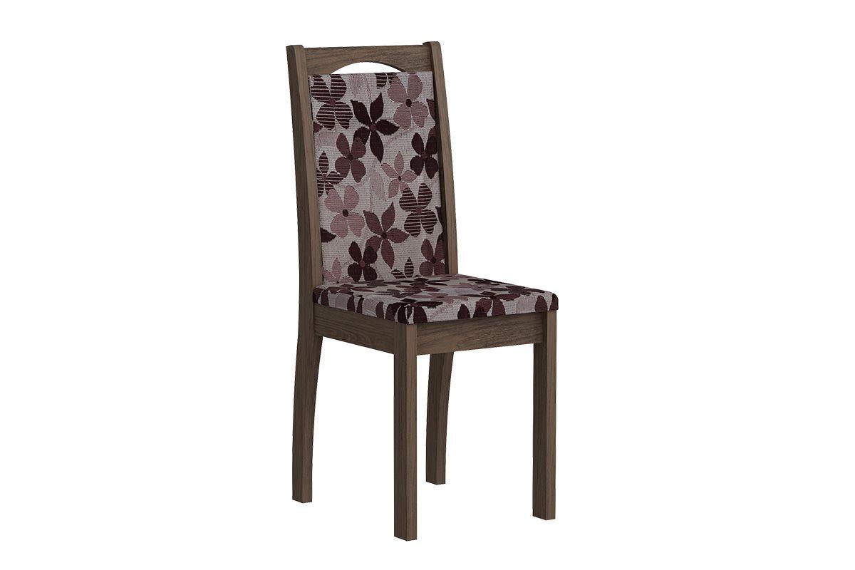 Cadeira Cimol LíviaCor Marrocos  -  Assento/Encosto Floral Bordô