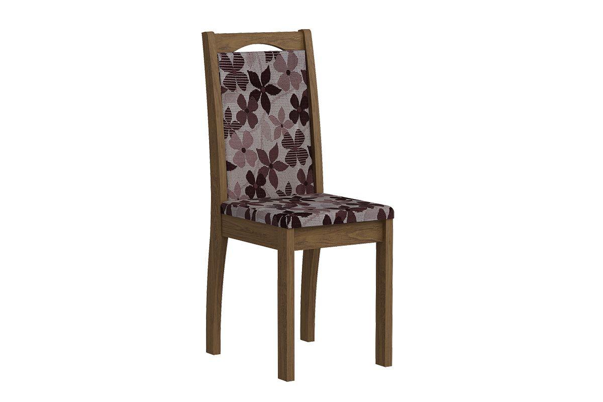 Cadeira Cimol LíviaCor Savana  -  Assento/Encosto Floral Bordô