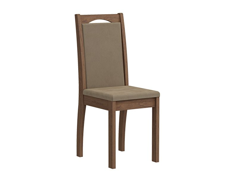 Cadeira Cimol LíviaCor Savana - Assento/Encosto Sued Marfin