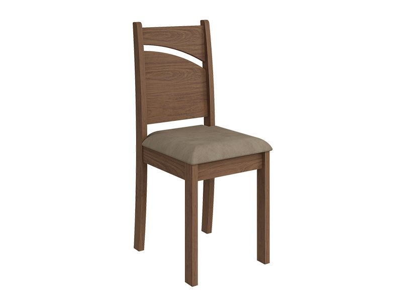 Cadeira Cimol MelissaCor Savana - Assento Sued Marfin
