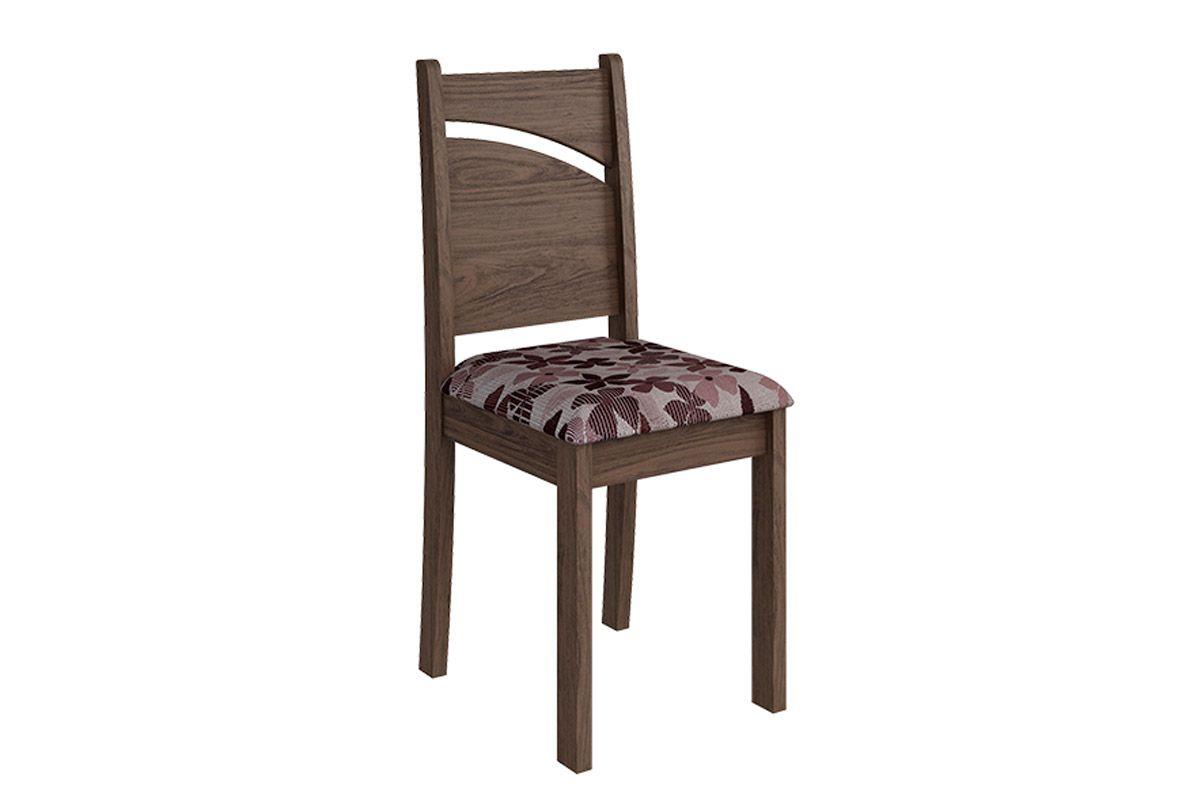 Cadeira Cimol MelissaCor Marrocos  -  Assento Floral Bordô