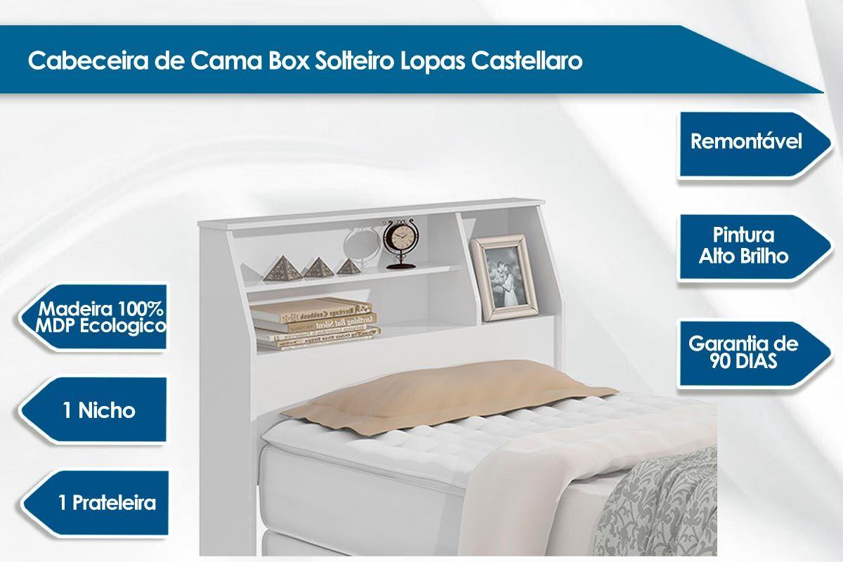 Cabeceira Cama Box Solteiro Lopas Castellaro