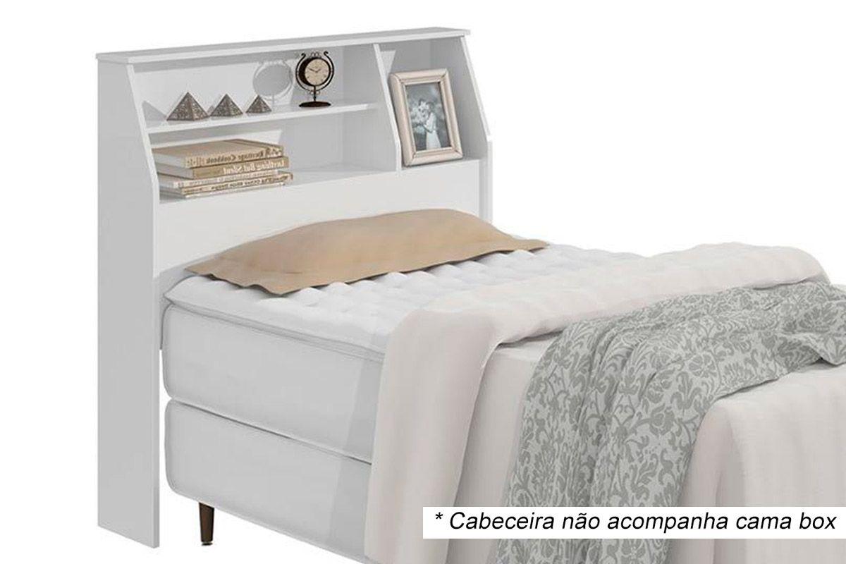 Cabeceira Cama Box Solteiro Lopas CastellaroCor Branco
