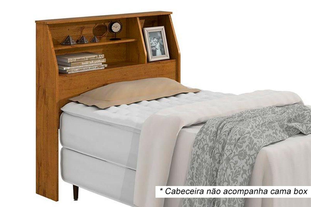 Cabeceira Cama Box Solteiro Lopas CastellaroCor Rovere Soft