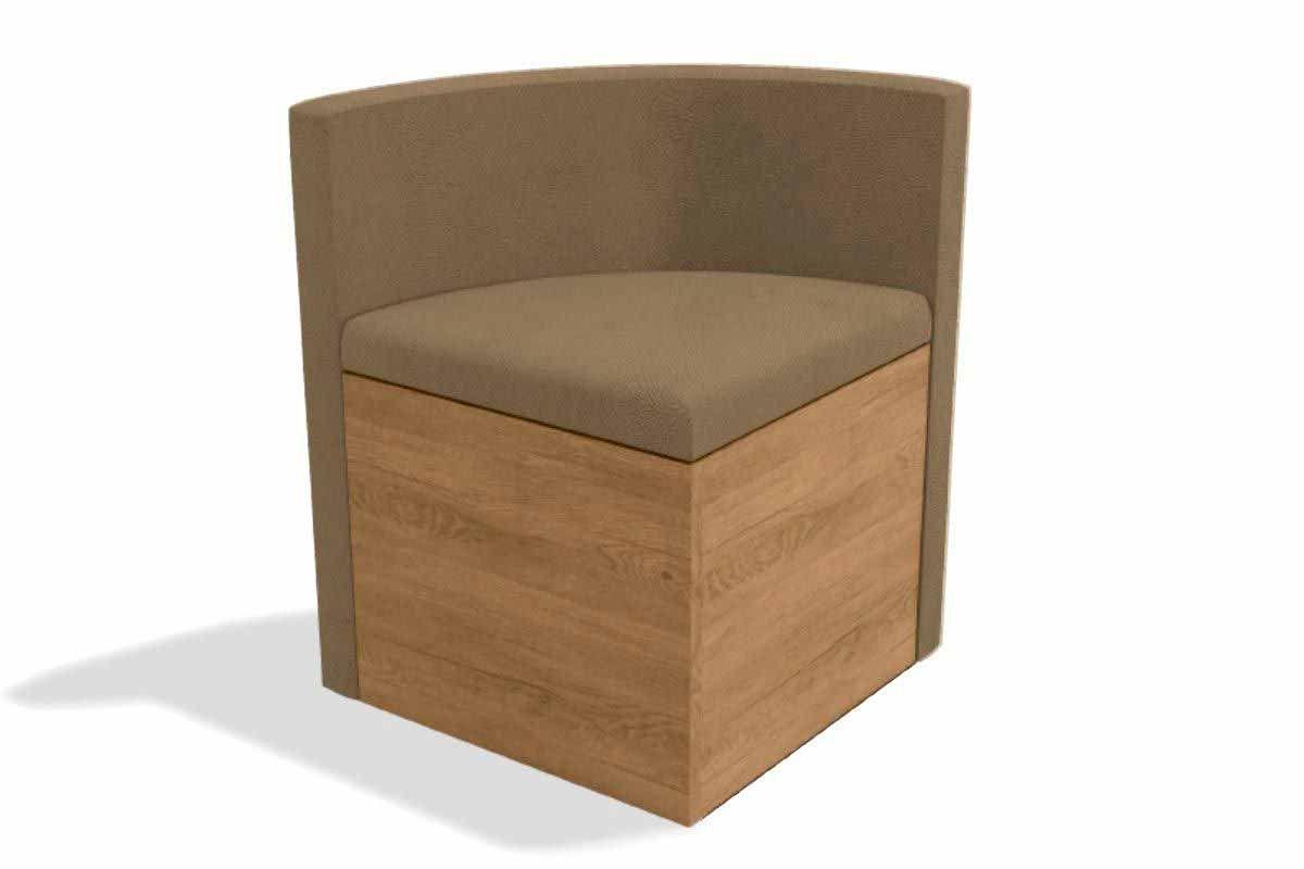Cadeira Kappesberg Estar 4CAD800 Madeira - 4 UnidadesCor Nogal/Freijó - Assento/Encosto Caramelo D005