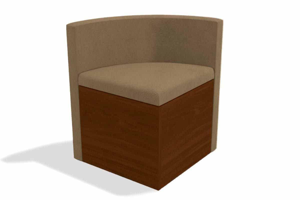 Cadeira Kappesberg Estar 4CAD800 Madeira - 4 UnidadesCor Walnut Fosco - Assento/Encosto Caramelo D005