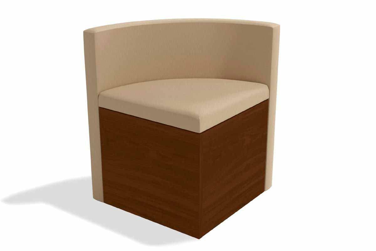 Cadeira Kappesberg Estar 4CAD800 Madeira - 4 UnidadesCor Walnut Fosco - Assento/Encosto Bege A020